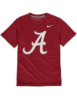 Alabama Crimson Tide Nike Youth Logo Legend Dri Fit T Shirt   Crimson by Fanatics