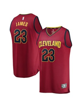 Le Bron James Cleveland Cavaliers Fanatics Branded Youth Fast Break Replica Jersey Maroon   Icon Edition by Fanatics