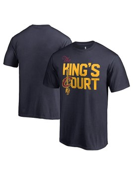 Le Bron James Cleveland Cavaliers Fanatics Branded Youth King's Court T Shirt – Navy by Fanatics
