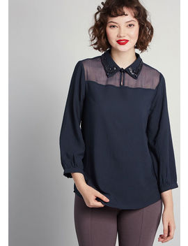 Tout Of The Ordinary Chiffon Blouse by Modcloth
