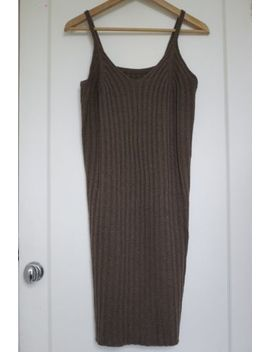 Brown Bloggers Fave Knitted Strappy Dress Size S by Ebay Seller