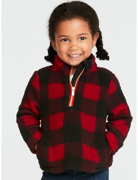 1/4 Zip Sherpa Jacket For Toddler Girls by Old Navy