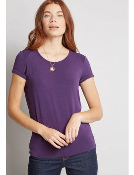 More Than Basic Knit Top by Modcloth