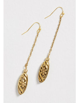 Primed To Shine Floral Earrings by Modcloth