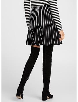 Jacquard Stripe Knit Skirt by Icône
