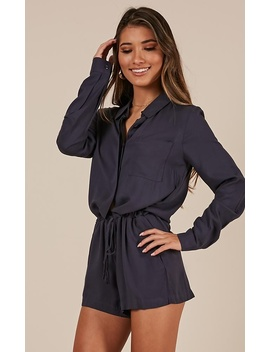 Nobody Like You Playsuit In Navy by Showpo Fashion