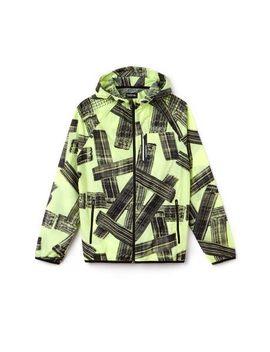 Men's Sport Hooded Print Tennis Jacket by Lacoste