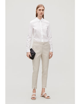Slim Fit Trousers With Press Folds by Cos