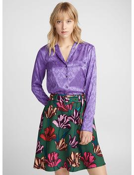 Satiny Damask Pyjama Shirt by Icône