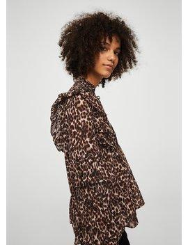 Bluză Leopard Cu Volane by Mango
