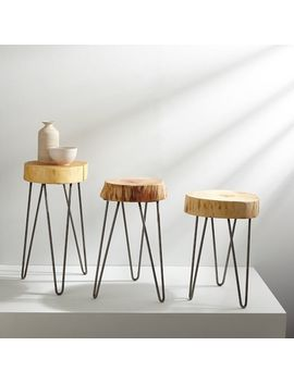 Katie Gong Design Stump Side Table by West Elm