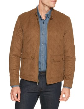Quilted Vegan Suede Moto Jacket by Banana Republic Factory
