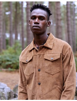 Cord Worker Jacket Tan by The Idle Man