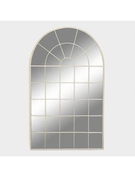 Large Silver Arched Windowpane Wall Mirror by World Market