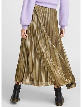 Elastic Waist Pleated Skirt by Icône