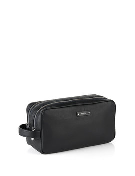 Traveller Collection Italian Leather Washbag  by Boss