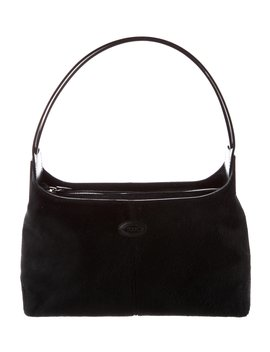 Leather Trimmed Ponyhair Bag by Tod's