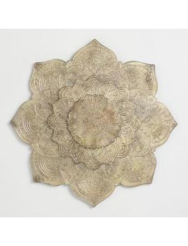 Burnished Metal Lotus Plaque Wall Decor by World Market