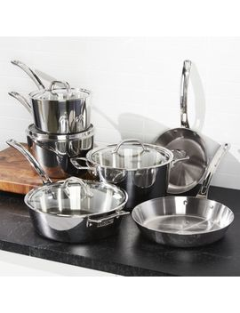 Viking Stainless Steel 10 Piece Cookware Set by Crate&Barrel