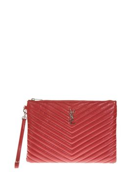 Saint Laurent Red Leather Document Holder by Saint Laurent