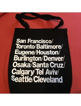 American Apparel Signature Cities Black Tote Bag   Nwt by American Apparel