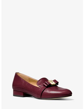 Caroline Crinkled Leather Loafer by Michael Michael Kors