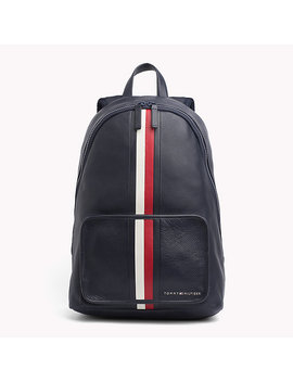 Elevated Leather Backpack by Tommy Hilfiger