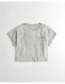 Logo Crewneck T Shirt by Hollister