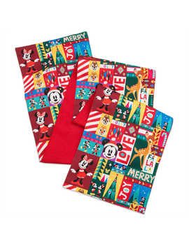 Santa Mickey Mouse And Friends Holiday Table Runner by Disney