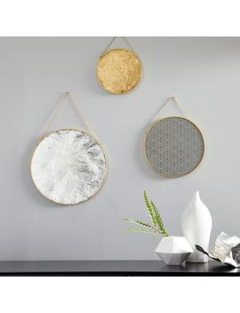 Gilded Pendant Wall Art (Set Of 3) by West Elm