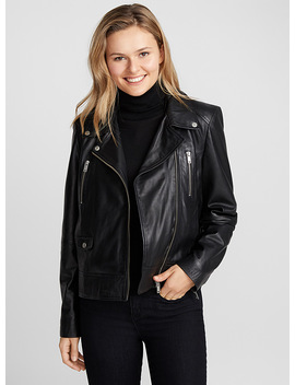 Gwenda Lambskin Biker Jacket by In Wear