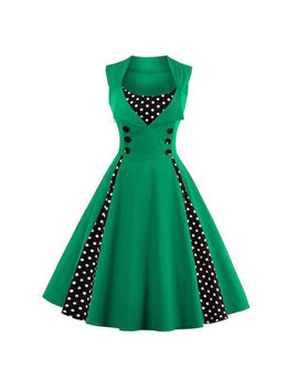 Womens Polka Dot Vintage 1950s Rockabilly Dress Evening Party Swing Prom Dresses by Unbranded