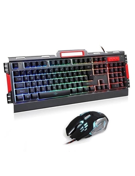 K33 Wired Led Rainbow Backlight Aluminum Alloy Panel Gaming Keyboard With Led 3200 Dpi Gaming Mouse Combo by Best Buy