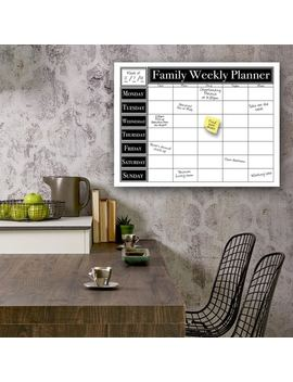 Ready2 Hang Art Dry Erase Family Weekly Calendar On Art Plexi by Ready2 Hang Art