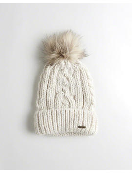 Cable Pom Beanie by Hollister