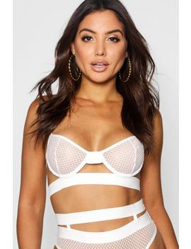 Lily Thick Strapping Underwired Bra by Boohoo