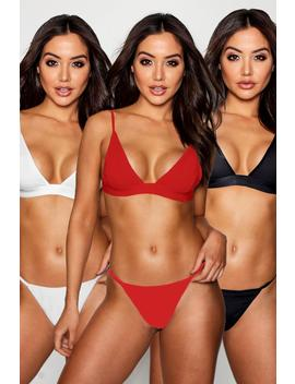 3 Pack Triangle by Boohoo