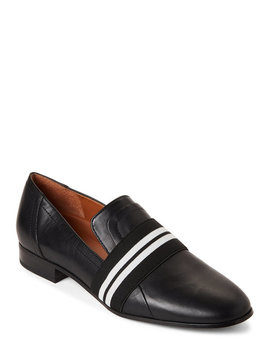 Black Odyssey Leather Loafers by Sarto By Franco Sarto