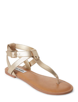 Gold Hidden Strappy Thong Sandals by Steve Madden