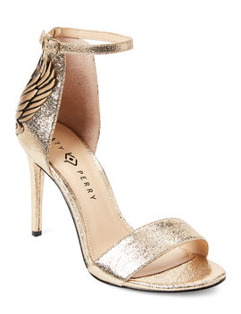 Gold Alexann High Heel Ankle Strap Sandals by Katy Perry