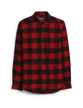 Camicia Rossa A Quadri In Flanella by Primark