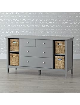 Kids Midway Wide Grey Dresser by Crate&Barrel