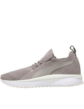Puma Tsugi Apex Evo Knit Trainers Grey/Grey/White by Mand M Direct