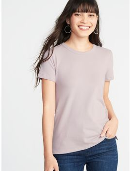 Slim Fit Brushed Jersey Tee For Women by Old Navy