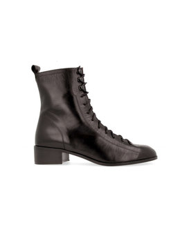 By Far Bota Combat Boots   Black Leather by Garmentory