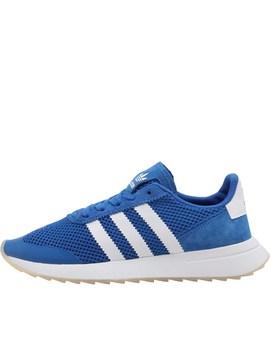 Adidas Originals Womens Flashrunner Trainers Blue/Footwear White/Blue by Mand M Direct