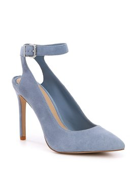 Ambroza Suede Ankle Strap Pumps by Gianni Bini