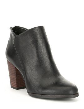 Expa Dition Envelope Top Leather Block Heel Booties by Gb