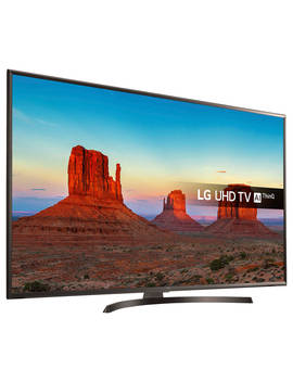 """Lg 65 Uk6400 Plf Led Hdr 4 K Ultra Hd Smart Tv, 65"""" With Freeview Play/Freesat Hd & Crescent Stand, Ultra Hd Certified, Metallic by Lg"""