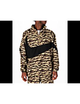 Men's Nike Sportswear Vaporwave Swoosh Woven Half Zip Jacket by Nike